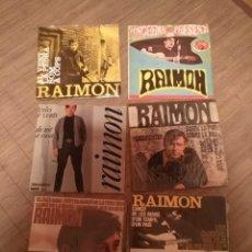 Discos de vinilo: RAIMON: 6 DISCOS SINGLES DE DIFERENTES AÑOS. Lote 141724518