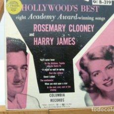 Discos de vinilo: ROSEMARY CLOONEI -HARRY JAMES -2 EP.S DE 4 CANCIONES TAPA DURA MADE IN USA. Lote 141730058