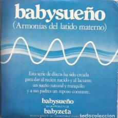 Discos de vinilo: SINGLE BABYSUEÑO ARMONIA DEL LATIDO MATERNO LABORATORIOS ZAMBELETTI 3 SINGLES. Lote 141752750