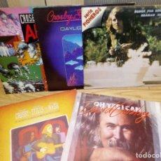 Discos de vinilo: LOTE DE 5 VINILOS LP CROSBY STILL NASH YOUNG . Lote 141755526