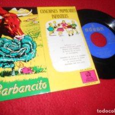 Discos de vinilo: GARBANCITO CUENTO OVIES+CANCIONES POPULARES INFANTILES CORO NIÑAS ORQUESTA EP 1958 SPAIN ESPAÑA. Lote 141773986
