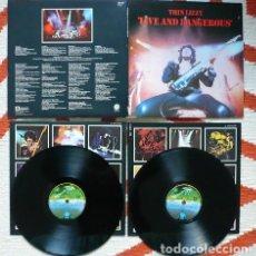 Discos de vinilo: THIN LIZZY - LIVE AND DANGEROUS 1978 - DOBLE LP, PHIL LYNOTT, SCOTT GORHAM, RARA ORG EDT UK, EXC. Lote 141779282