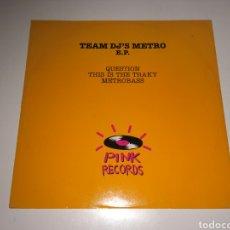Discos de vinilo: TEAM DJ'S METRO - E.P.. Lote 146958645