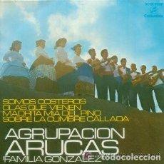 Discos de vinilo: AGRUPACION ARUCAS - FAMILIA GONZALEZ - SOMOS COSTEROS - EP DEL AÑO 1970 FOLCLORE DE CANARIAS. Lote 141796538