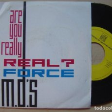 Discos de vinilo: FORCE MD´S ARE YOU REALLY REAL - SINGLE ALEMAN 1990 - TOWN TOWN / TOMMY BOY. Lote 141799454