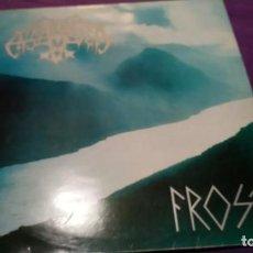 Discos de vinilo: ENSLAVED - FROST (LP, ALBUM) RARO CON ENCARTE - VINILO AZUL IMPECABLE. Lote 141801822