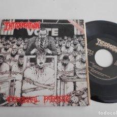 Discos de vinilo: INTOXICATION-EP CEREBRAL PARASITE +3. Lote 141809442