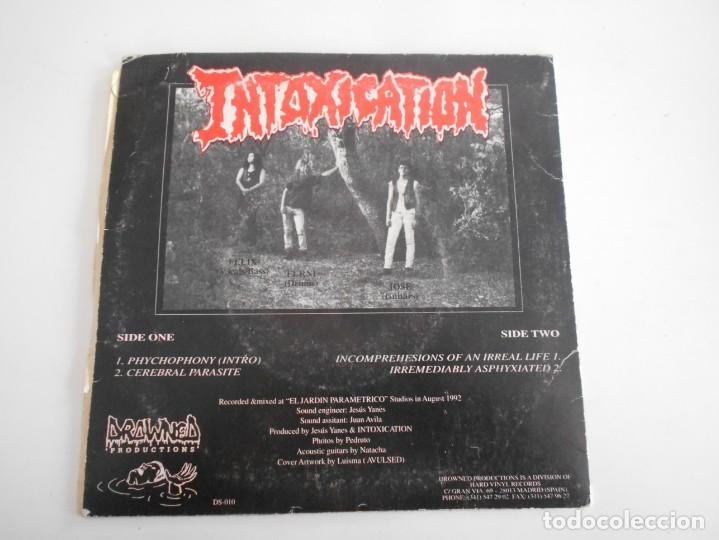 Discos de vinilo: INTOXICATION-EP CEREBRAL PARASITE +3 - Foto 2 - 141809442