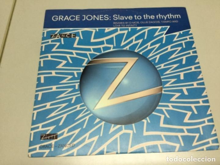 Discos de vinilo: Grace Jones- slave to the Rhythm- remixes by D. Mob - Foto 3 - 141816358