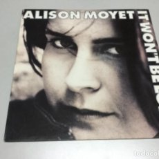 Discos de vinilo: ALISON MOYET - IT WONT BE LONG . Lote 141819218