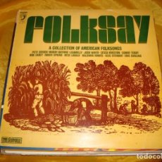 Discos de vinilo: FOLKSAY. A COLLECTION OF AMERICAN FOLKSONGS. DISCOPHON, 1973. IMPECABLE (#). Lote 141824150
