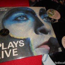 Discos de vinilo: PETER GABRIEL PETER GABRIEL PLAYS LIVE 2LP 1983 THE FAMOUS CHARISMA LABEL ESPAÑA SPAIN. Lote 141850586