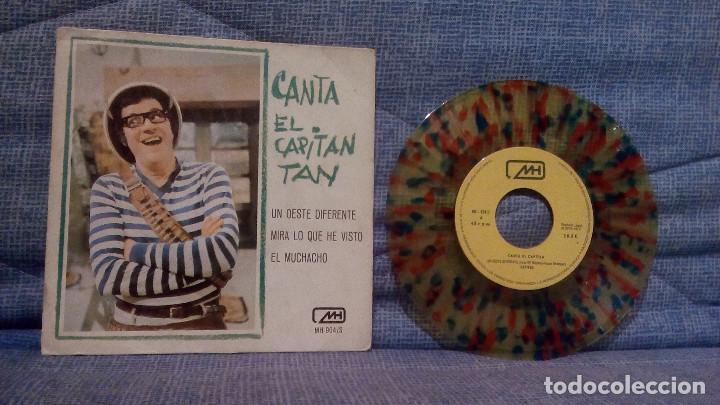 CANTA EL CAPITAN TAN - UN OESTE DIFERENTE + 2 - RARO VINILO DE COLORES AÑO 1970 CHIRIPITIFLAUTICOS (Música - Discos de Vinilo - EPs - Música Infantil)