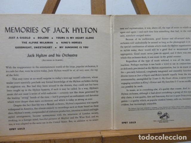Discos de vinilo: JACK HYLTON AND HIS ORQUESTRA -2 DISCOS 4 CANCIONES MADE IN USA - Foto 2 - 141869974