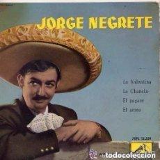 Discos de vinil: JORGE NEGRETE / LA VALENTINA + 3 - EP SPAIN 1959. Lote 141877810