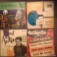 Discos de vinilo: LOTE 4 DISCOS : PAUL ANKA, NAT KING COLE,. BLUE DIAMONDS, GLENN MILLER. Lote 141878966