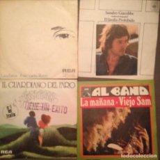 Discos de vinilo: LOTE 4 DISCOS ITALIANOS: AL BANO, SANDRO GIACOBBE, LUCIO BATISTTI, IL GUARDIANO DEL FARO. Lote 141881710