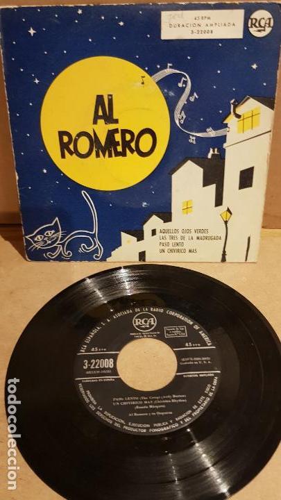 AL ROMERO Y SU ORQUESTA / AQUELLOS OJOS VERDES / EP - RCA-1958 / MBC. ***/*** (Música - Discos de Vinilo - EPs - Orquestas)