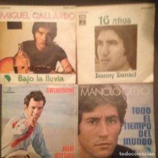 Discos de vinilo: LOTE 4 DISCOS: MANOLO OTERO, MIGUEL GALLARDO, JULIO IGLESIAS, DANNY DANIEL . Lote 141883470