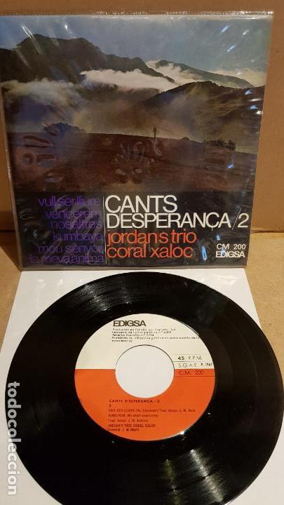 JORDAN'S TRIO-CORAL XALOC / CANTS D'ESPERANÇA-2 / EP - EDIGSA - 1967 / MBC. ***/*** (Música - Discos de Vinilo - EPs - Country y Folk)