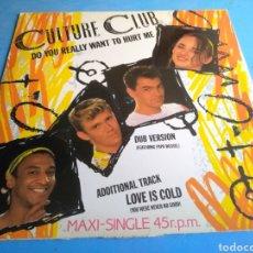 Discos de vinilo: DISCO (CULTURE CLUB)DO YOU REALLY WANT TO HURT ME SÑO 1982. Lote 141894557