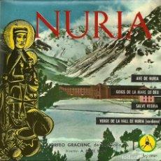 Discos de vinilo: NURIA - ORFEÓ GRACIENC DE BARCELONA - DISCOTECA PAX - 1961. Lote 141899010