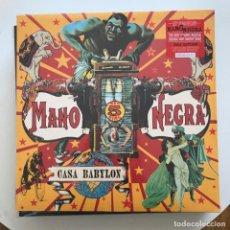 Discos de vinilo: MANO NEGRA - CASA BABYLON (1994) - LP REEDICIÓN BECAUSE 2018 NUEVO - INCLUYE CD. Lote 290331693