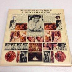 Discos de vinilo: LEONARD BERNSTEIN DIRIGE SU MUSICA PARA TEATRO --DOBLE LP---. Lote 141906538