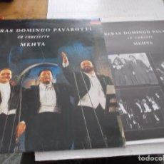 Discos de vinilo: CARRERAS, DOMINGO,PAVAROTTI. EN CONCIERTO MEHTA. Lote 141907502