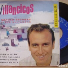 Discos de vinilo: MANOLO ESCOBAR - VILLANCICOS - EP 1970 - BELTER. Lote 141923314