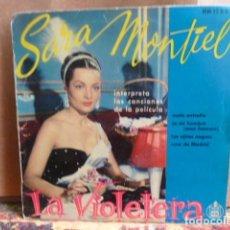Discos de vinilo: SARA MONTIEL -EP-4 CANCIONES-. Lote 141923574