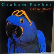 Discos de vinilo: GRAHAM PARKER - THE REAL MACAW R C A PROMOCIONAL LABEL BLANCO - 1983 -CON HOJAS PROMO . Lote 141931330