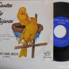Discos de vinilo: AVERIO KARL REICH-SINGLE CANTOS DE PAJAROS. Lote 141935822