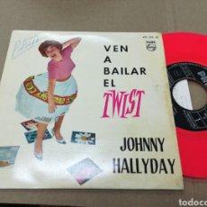 Discos de vinilo: JOHNNY HALLYDAY EP VEN A BAILAR EL TWIST ESPAÑA 1961. Lote 141944122