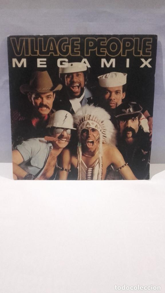 VINILO VILLAGE PEOPLE MEGAMIX RPM 45 (LP 45) SINGLE 1989 MADE IN FRANCE (Música - Discos - Singles Vinilo - Disco y Dance)