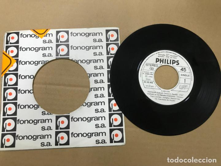 CARLOS / NATALIE (XXI FESTIVAL DE BENIDORM) / SOLOS TU Y YO (SINGLE PROMO 1980) (Música - Discos - Singles Vinilo - Solistas Españoles de los 70 a la actualidad)