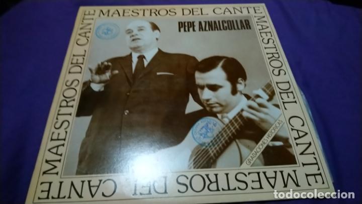 PEPE AZNALCOLLAR (LP) MAESTROS DEL CANTE (Música - Discos - LP Vinilo - Flamenco, Canción española y Cuplé)