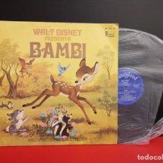Discos de vinilo: LP DISCO VINILO BAMBI DE DISNEY DISNEYLAND RECORDS 1975 CON CUENTO. Lote 230393080