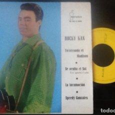 Discos de vinilo: ROCKY KAN, TWISTEANDO EL MADISON, SE OCULTA EL SOL, LA LOCOMOCIÓN, SPEEDY GONZALES. Lote 141963906