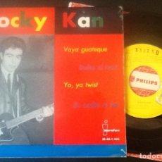 Discos de vinilo: ROCKY KAN, VAYA GUATEQUE, BAILAR EL TWIST, YA YA TWIST, SE OCULTA EL SOL. Lote 141964278