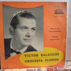 Discos de vinilo: VICTOR BALAGUER Y ORQUESTA FLORIDA -EP 4 CANCIONES. Lote 141972194
