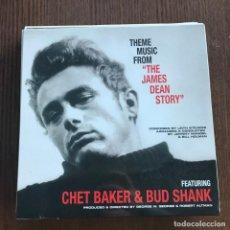 Discos de vinilo: CHET BAKER & BUD SHANK - THEME MUSIC FROM JAMES DEAN STORY (1957) - LP REEDICIÓN WAX LOVE 2017 NUEVO. Lote 142001054