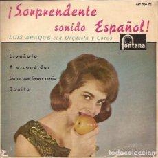 Discos de vinilo: EP LUIS ARAQUE SORPRENDENTE SONIDO ESPAÑOL FONTANA 457709. Lote 142002922