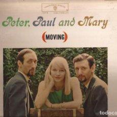 Discos de vinilo: LP PETER PAUL & MARY MOVING WARNER BROS. 1473 USA 1962. Lote 142018138