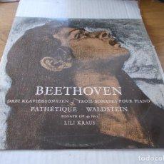 Discos de vinilo: BEETHOVEN LILI KRAUS. PATHETIQUE WALDSTEIN. Lote 142021194