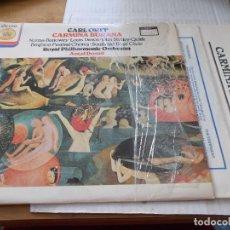 Discos de vinilo: CARL ORFF. CARMINA BURANA. ROYAL PHILHARMONIC ORCHESTRA. ANTAL DORATI. Lote 142022018