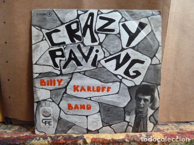 BILLY KARLOFF BAND -CRAZY PAVING -Y OTRA -SINGLE DE PUNK - (Música - Discos - Singles Vinilo - Cantautores Españoles)