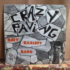 Discos de vinilo: BILLY KARLOFF BAND -CRAZY PAVING -Y OTRA -SINGLE DE PUNK -. Lote 142022622