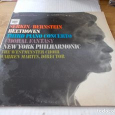 Discos de vinilo: BEETHOVEN CONCERTO Nº 3 IN C MINOR PIANO AND ORCHESTRA OP. 37 RUDOLF SERKIN PIANIST. Lote 142023242