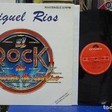 Discos de vinilo: MIGUEL RIOS. EL ROCK DE UNA NOCHE DE VERANO. POLYDOR 1983, REF. 813 112-1. Lote 142038434